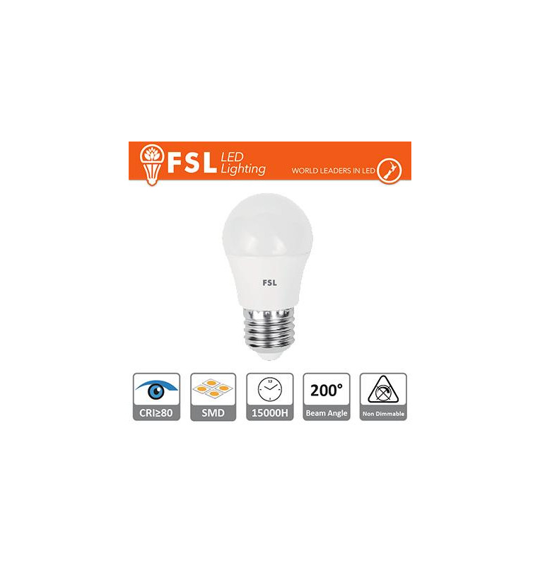Lampada Sfera - 5,5W 3000K E27 460LM