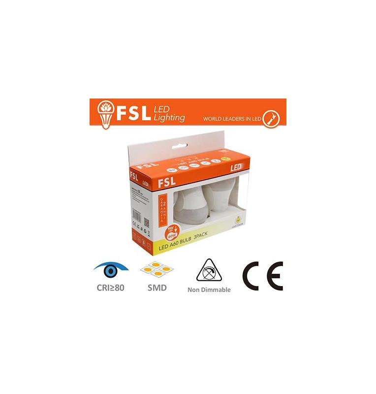 Lampada Goccia: Confezione PROMO 3PACK - 9W 3000K 770LM