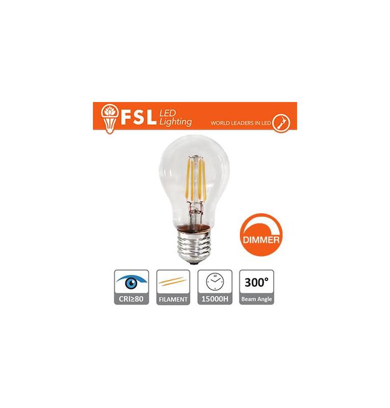 Lampada Filamento Goccia - 7W 2700K E27 800LM Dimmerabile