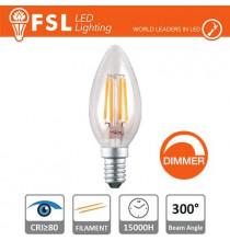 Lampada Filamento Oliva - 4W 2700K E14 400LM Dimmerabile