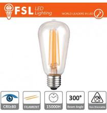 Lampada Filamento Edison - 6W 2700K E27 800LM