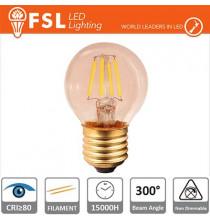 Lampada Sfera Filamento Ambra - 4W 2200K E14 330LM