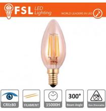 Lampada Oliva Filamento Ambra - 4W 2200K E14 330LM