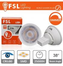 GU10 Lampadina LED - 6,5W 6500K 520LM 38° CRI80 Dimmerabile