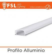 BARRA Profilo Alluminio 6063 - U - Barra 2 metri
