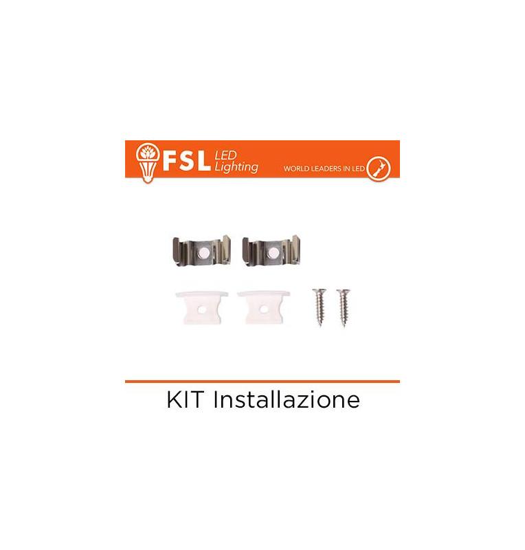 KIT Installazione per Profilo ad Incasso