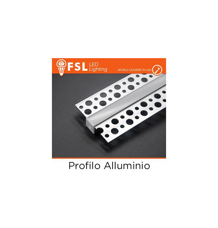 BARRA Profilo Alluminio 6063 - Raso - 2 metri