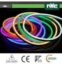 Tubo LED Flex 5050 - 25Metri 8W RGB AC220-240V IP65