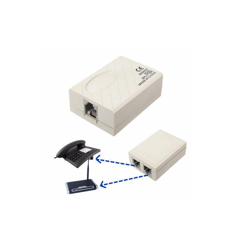 ADSL splitter - filtro per linea adsl RJ-11 - bulk