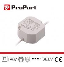 Alimentatore IP67 24V 20W 0.83A Size:59*59*28mm