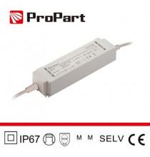 Alimentatore IP67 24V 60W 2.5A Size:163*43*33mm