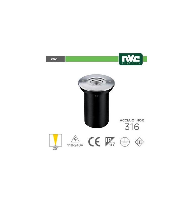 Segna Passo LED IP67 - 3000K 6.5W 529LM 25° Φ116 24V