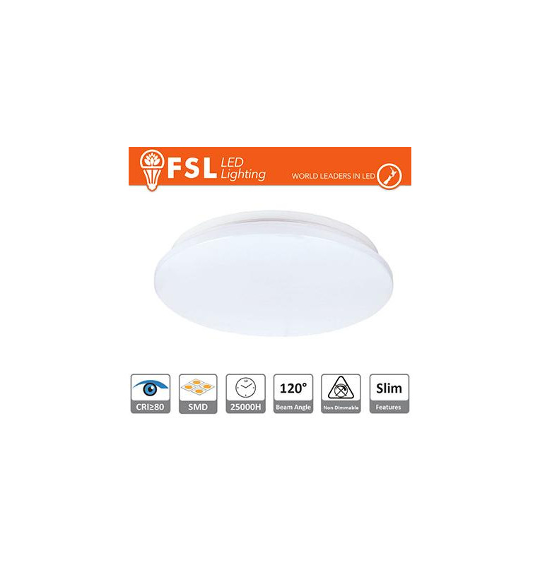 Plafoniera LED 18W 3000K 120° 33x5,5cm CRI80