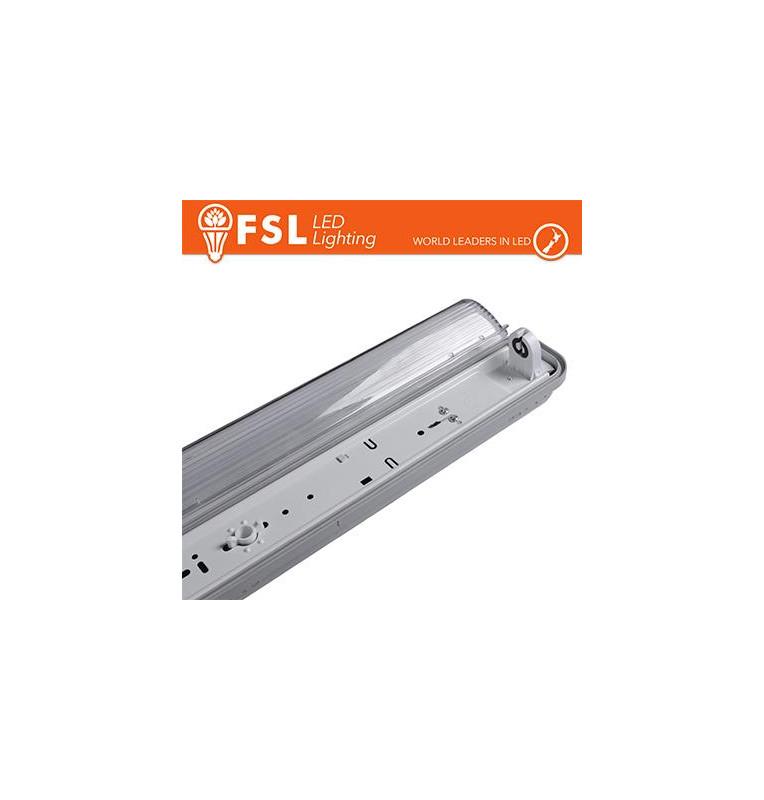 Plafo Stagna Portatubo T8 IP65: 1 tubo 60cm