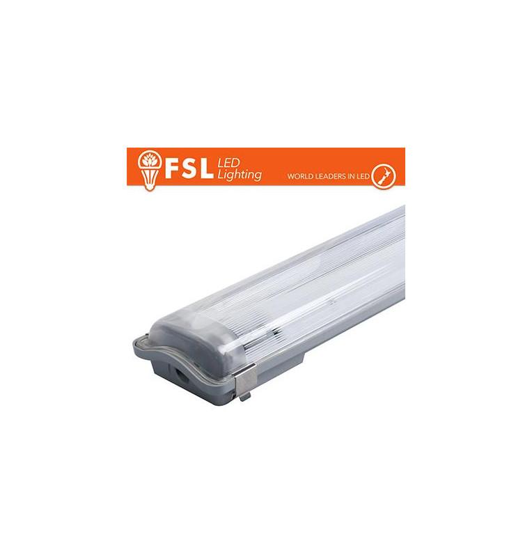 Plafo Stagna Portatubo T8 IP65: 2 tubo 60cm