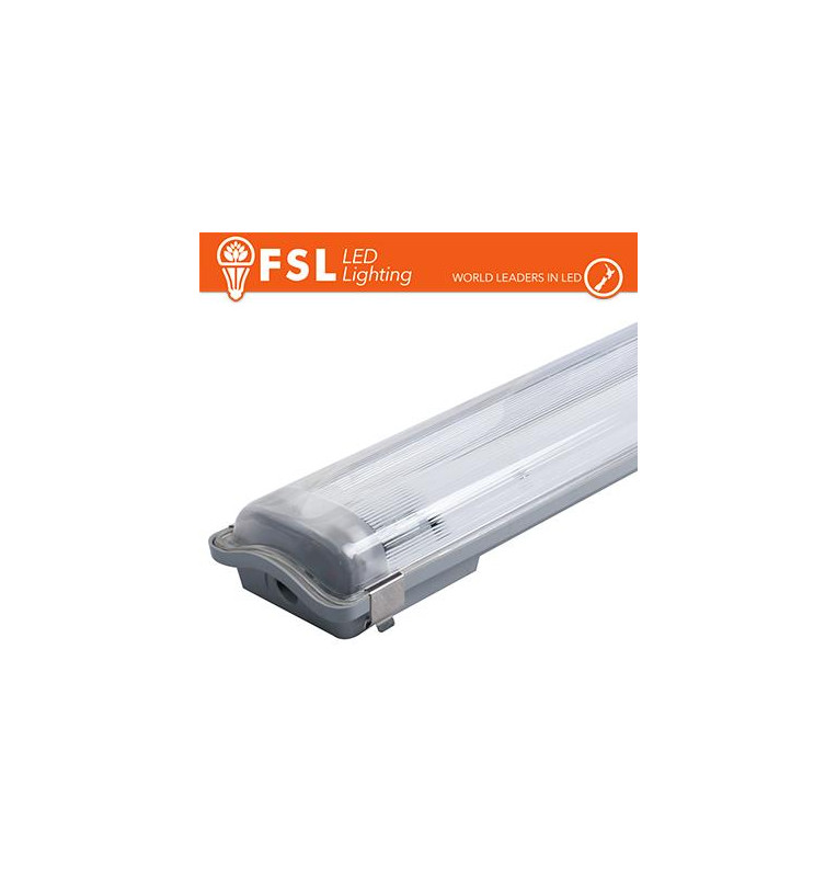 Plafo Stagna Portatubo T8 IP65: 2 tubo 120cm