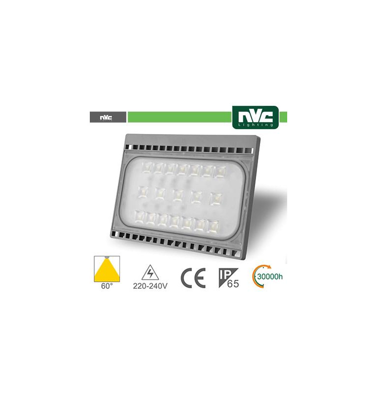 Proiettore per esterni Slim 50W - 3000K 4400LM 60° IP65