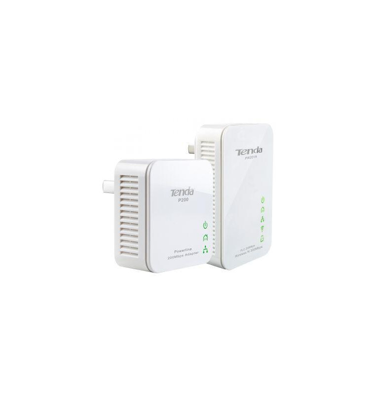 Tenda 300Mbps WiFi Powerline Extender Starter Kit 2 Units