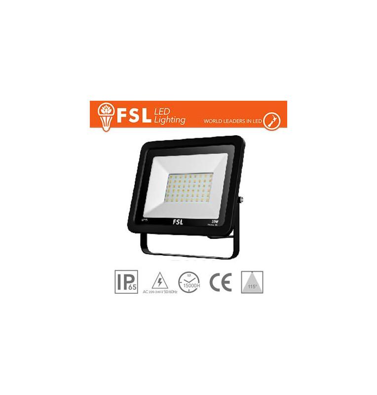 Proiettore per esterni Nero 50W - IP65 115° 6500K