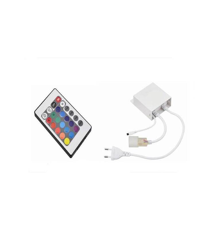 Driver+Telecomando infrarossi RGB Striscia LED 220V20Metri