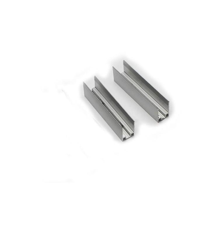 100x - Clip montaggio strisce LED 60mm Colore Singolo