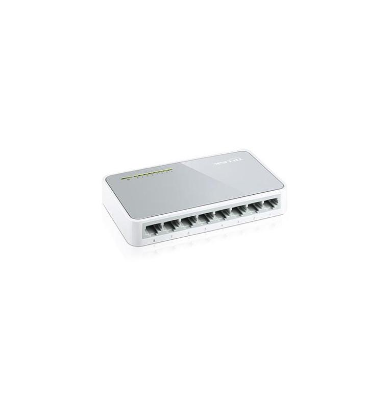 Switch desktop 8 porte 10/100 Mbps plug & play TL-SF1008D
