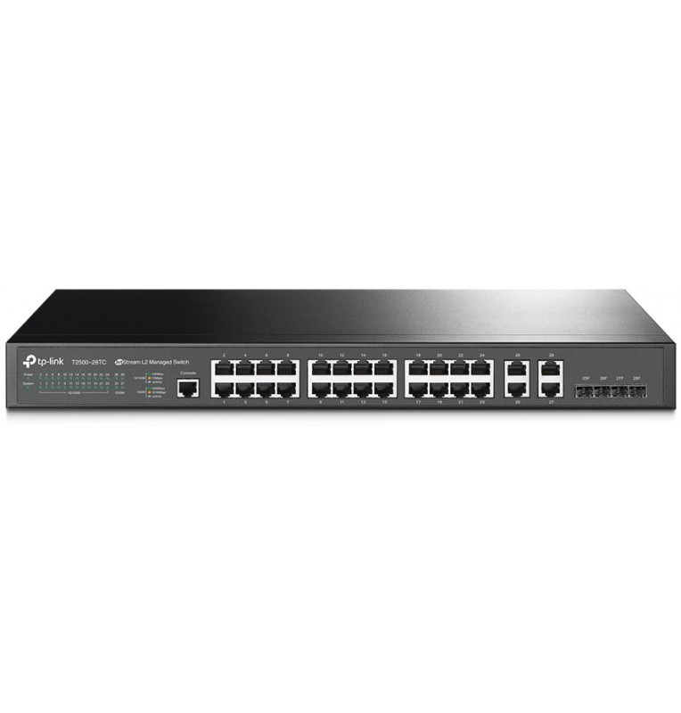 Switch Managed L2 24 Porte + 4 Porte Gbit Combo T2500-28TC