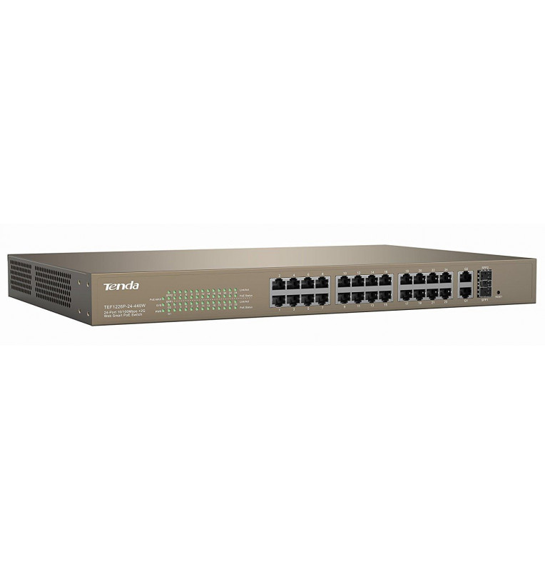 Switch PoE Web Smart 24 porte 10/100+2Gb+2SFP Combo