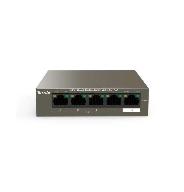 Switch Desktop 5 Porte 10/100/1000 con 4 Porte PoE TEG1105P