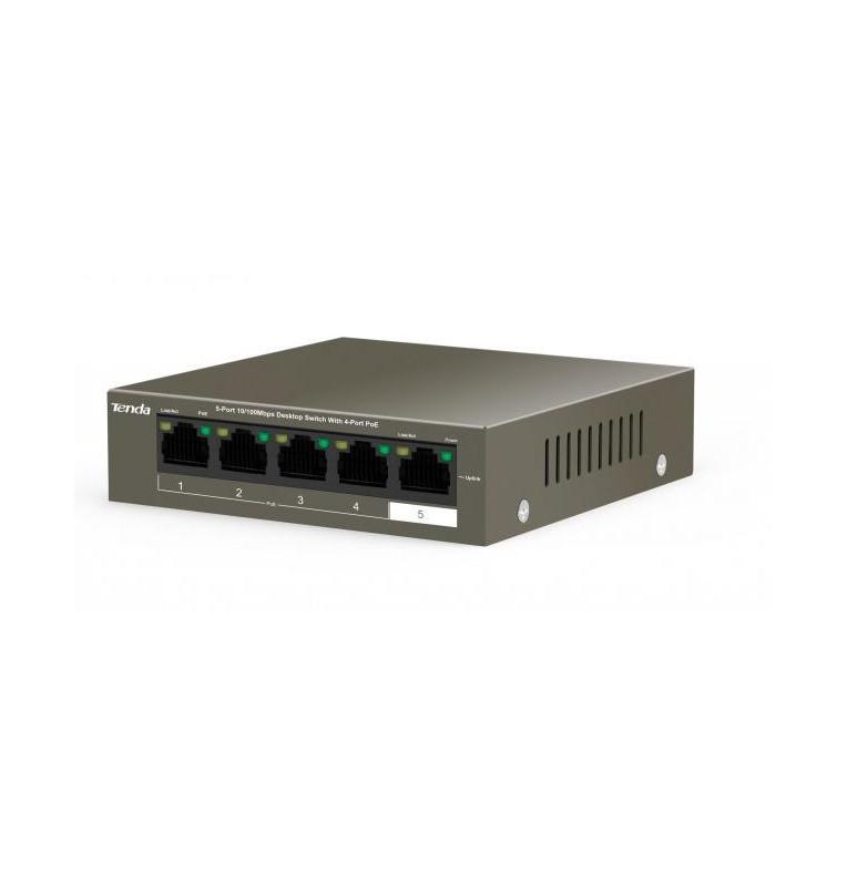 Switch Desktop 5 Porte 10/100 con 4 PoE 35W TEF1105P-4-38W