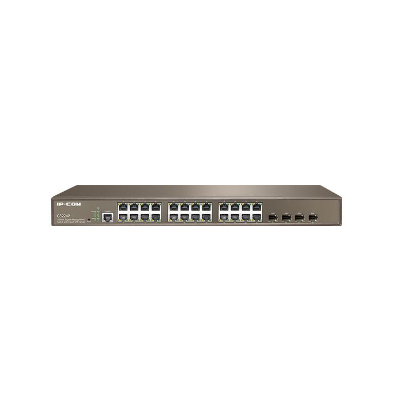 Switch rack 24 porte Gbit Poe+ Managed 4 porte SFP G3224P
