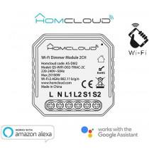 Modulo Dimmer Intelligente Wi-Fi 2 canali da incasso