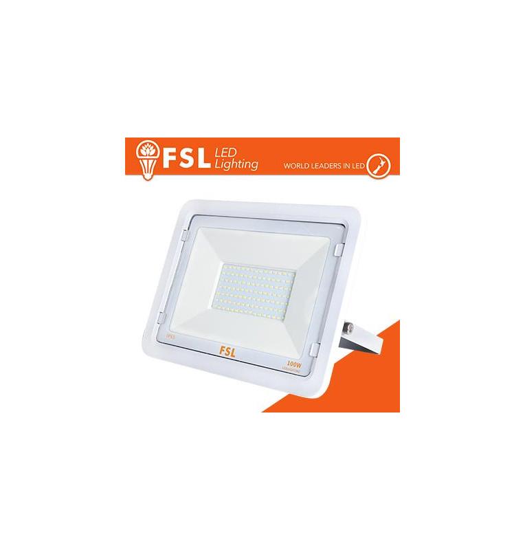 Proiettore per esterni Bianco 100W - IP65 115° 4000K