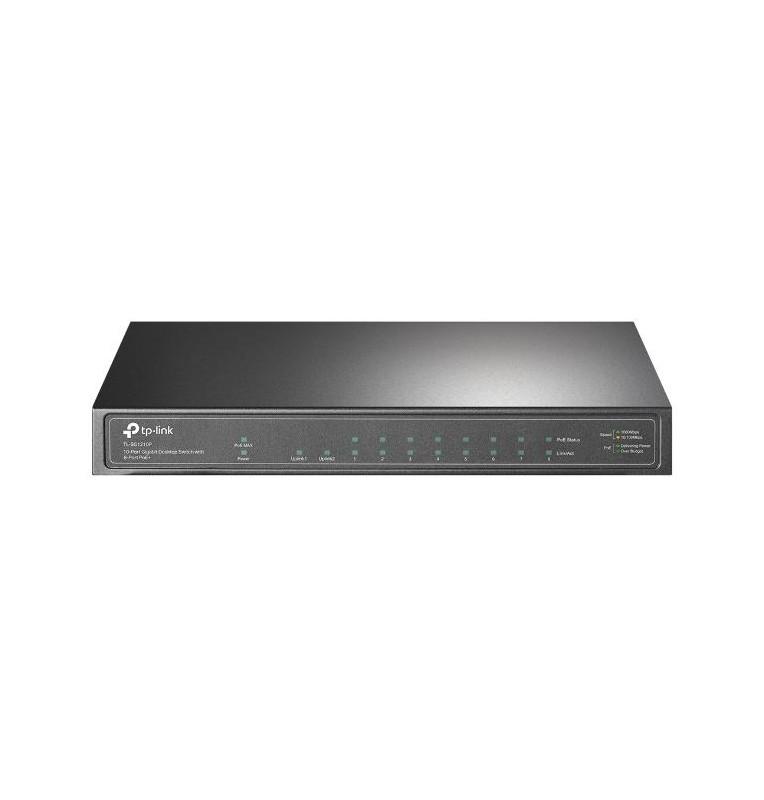 Switch 10 porte Gigabit 8 porte PoE+ 1 SFP TL-SG1210P