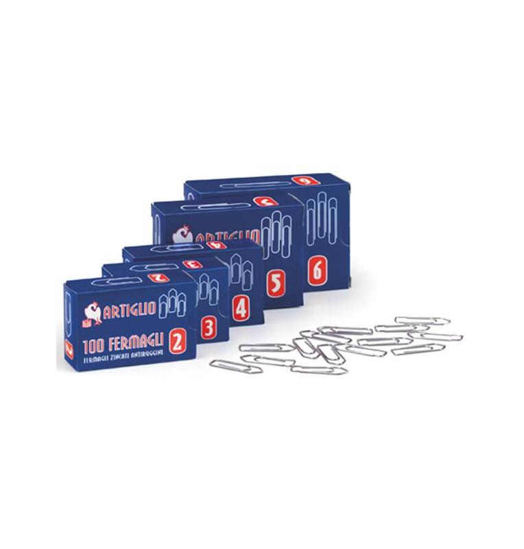 Fermagli in acciaio conf. 10 scatole da 100pz - Misura n.4