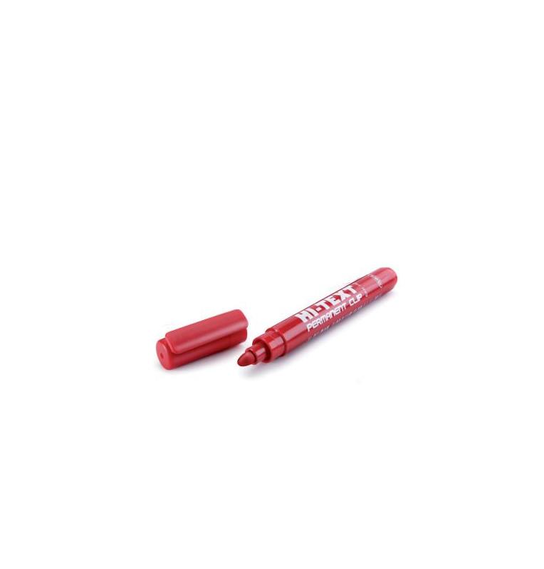 Indelebile punta tonda 4mm - 12 pezzi - ROSSO