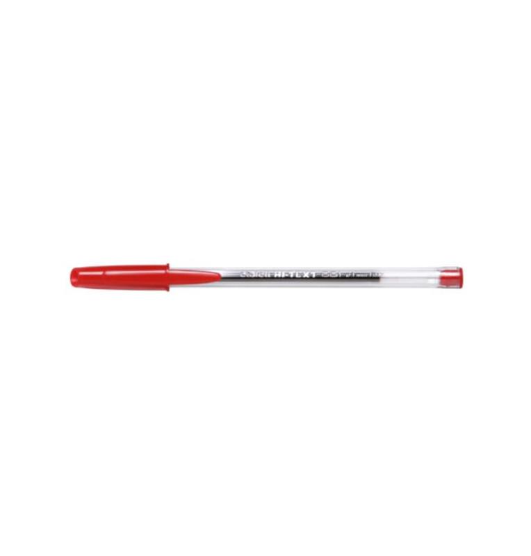 HI-TEXT 661 penna sfera punta media 1 mm Colore ROSSO 50 pz