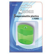 Temperamatite ARTIGLIO 1 foro in plastica con serbatoio