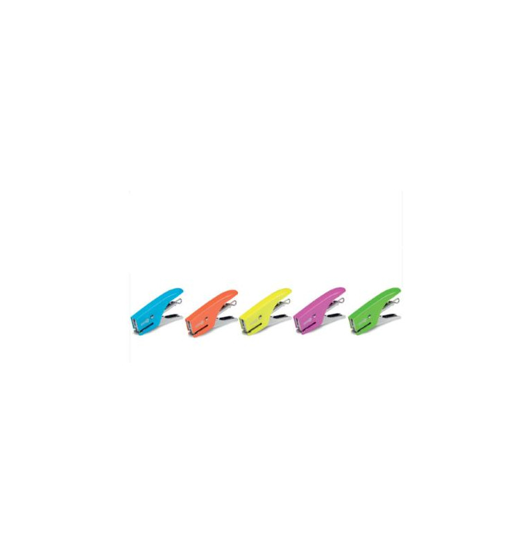 Cucitrice a pinza MINI 8 FLUO punto chiuso - azzurro