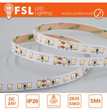 Striscia LED 5m IP20 2835 24V - 20W/m 240led/m 4000K