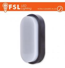 Plafoniera LED OVALE NERA 15W 3000K 55*100*200 IP54