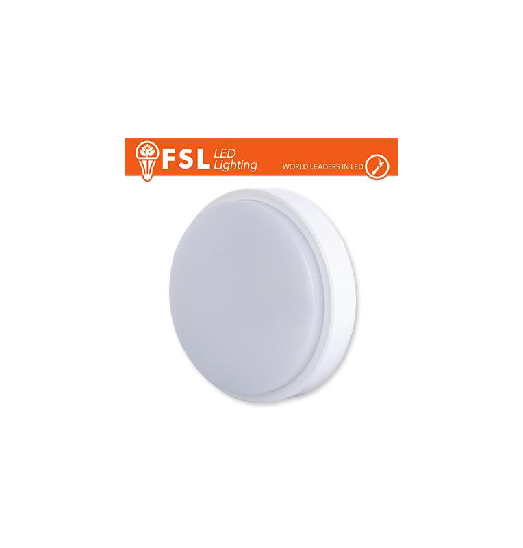 Plafoniera LED ROTONDA BIANCA 15W 4000K Ø180*55 IP54