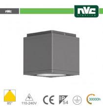 Downlight Cubo LED IP54 da soffitto - 8W 640lm 3000k 30°