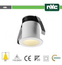 Punto Luce LED 2W 3000K 38° IP20 FORO:35mm