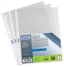 Buste in Plastica Universali FAVORIT - SUPERIOR Liscia 50pz