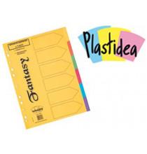DIVISORI in cartoncino PLASTIDEA 6 TASTI - formato A4